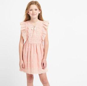 NWT Gap Girls eyelet ruffle tassel dress